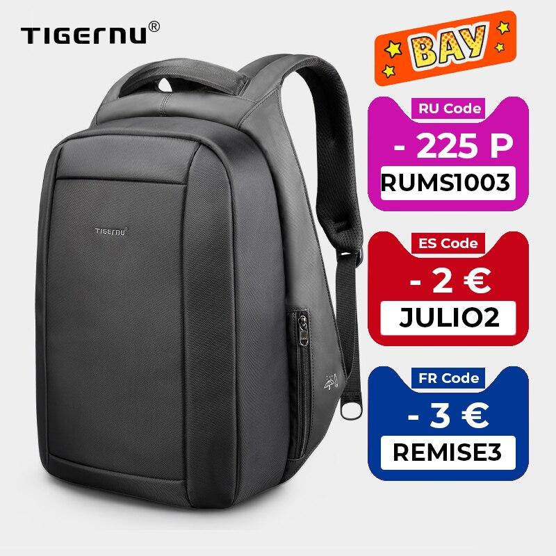Tigernu Hidden Anti theft Zipper 15.6 inch Men School Laptop Backpacks Water Repellent Travel 20L Multi USB Charger Male Mochila|Backpacks| - AliExpress
