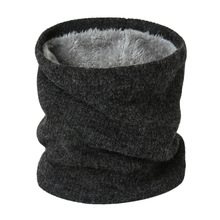 2019 New Winter Warm Brushed Knit Neck Circle Solid Go Out Wrap Cowl Loop Snood Shawl Outdoor Ski Climbing Scarf For Women Men 2019 new winter warm solid brushed knit neck circle outdoor ski climbing scarf for men women go out wrap cowl loop snood shawl