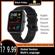 新しいamazfit gtsグローバルバージョンスマート腕時計huami屋外gps測位を実行している5ATM防水スマートウォッチ