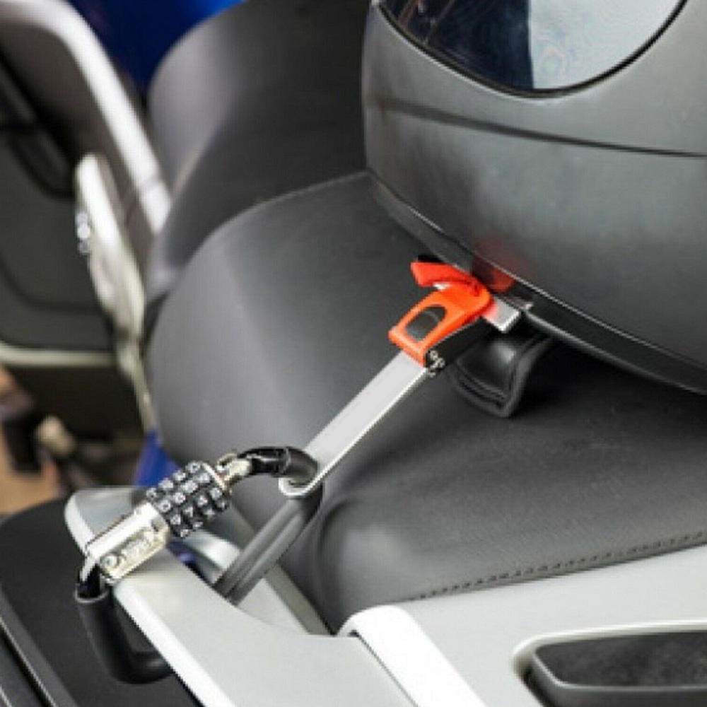 Black Silver 3-Digit Combination Helmet Security Lock T-bar For Honda Kawasaki Yamaha Harley KTM Suzuki Dirt Bike Motor Parts
