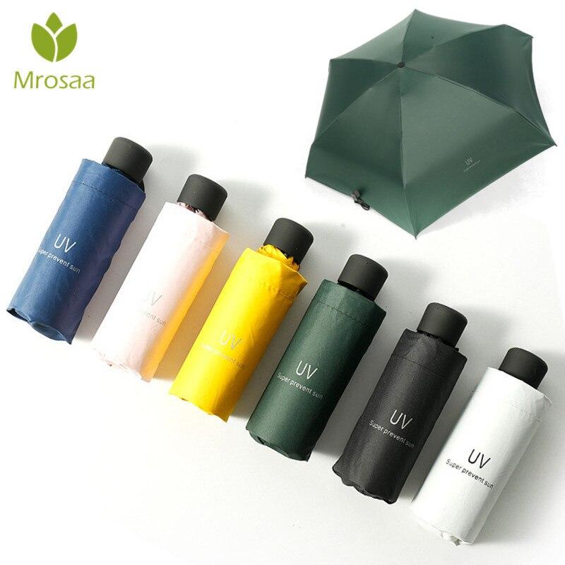 Mrosaa Маленький модный складной зонт дождь для женщин подарок для мужчин Мини карманный зонтик для девочек анти УФ водонепроницаемый портативный зонты для путешествий|Зонтики|   | АлиЭкспресс - Зонты для всех