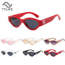 TTLIFE Vintage Sunglasses Women Cat Eye Points Small Sun Glasses For Woman Trendy Oculos New Cateye Shade Female Eyewear UV400
