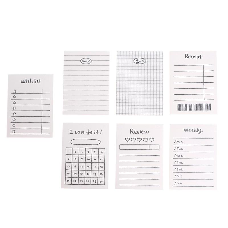 50 листов креативных ежедневных записей, органайзер для записей, офисные и школьные принадлежности, канцелярские товары, ежедневный график, записная книжка для записей, список дел, время, липкая заметка