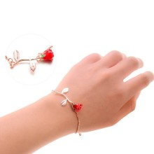 Подарок для браслет подружки красная роза простой браслет для ко Дню Святого Валентина сувенир свадебный подарок пользу Вечерние