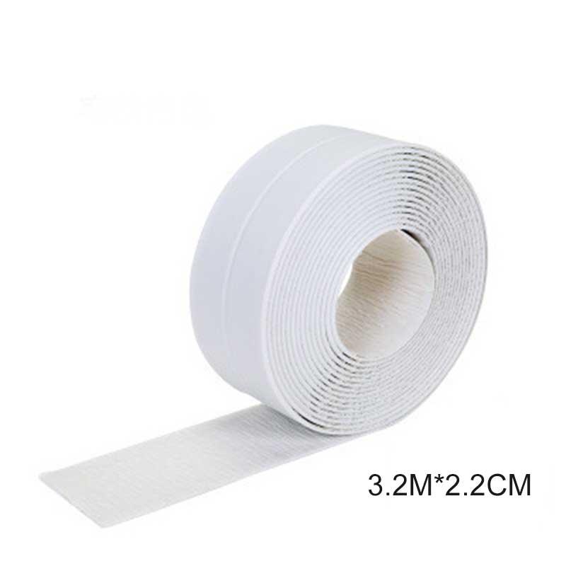 3,2 метров Ванная комната душ для раковины ванны уплотнительная лента Белая ПВХ самоклеющаяся Водонепроницаемая Наклейка на стену для ванной кухни - Цвет: Белый