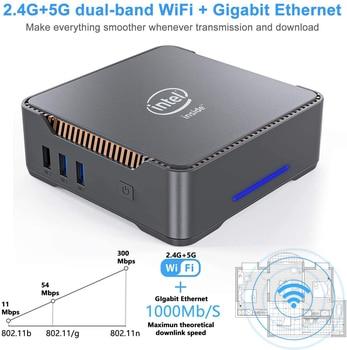 GK3V Mini PC Intel Celeron J4125 Windows 10 8GB DDR4 128GB 256GB 512GB 1TB SSD Gaming PC 2.4G 5G WiFi 1000M Mini Computer 3