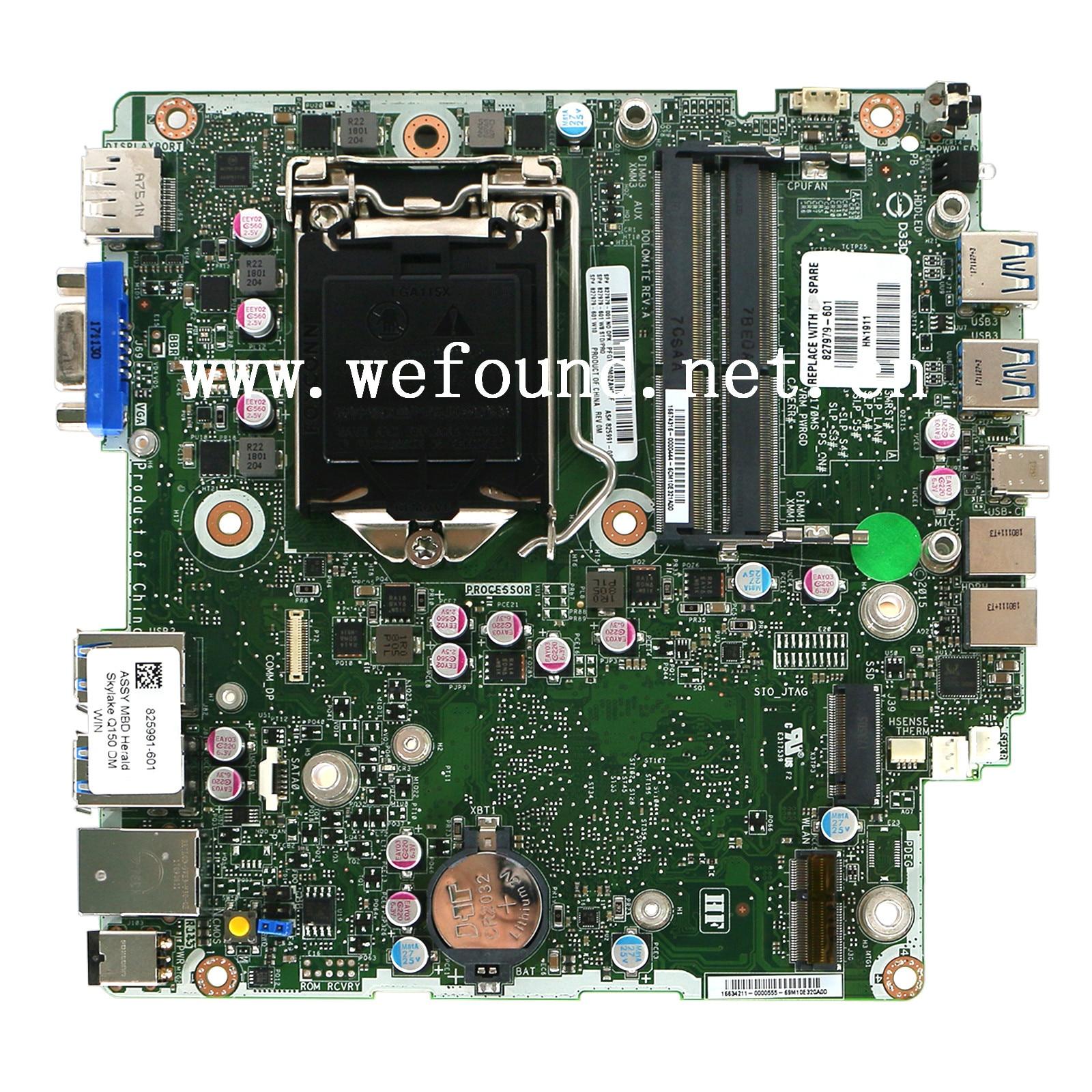 100% Working Desktop Motherboard For 600 G2 DM 827979-001 825991-001 System Board Fully Tested