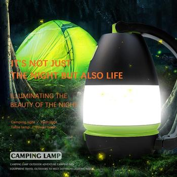 LED Camp Light Lamp USB Flashlight Spotlight Work Light Waterproof Searchlight Emergency Torch 2400mAh Power Bank 3-Level Bright super bright usb charging 36 5 led flashlight work light torch linternas magnetic hook mobile power bank for your phone outdoor