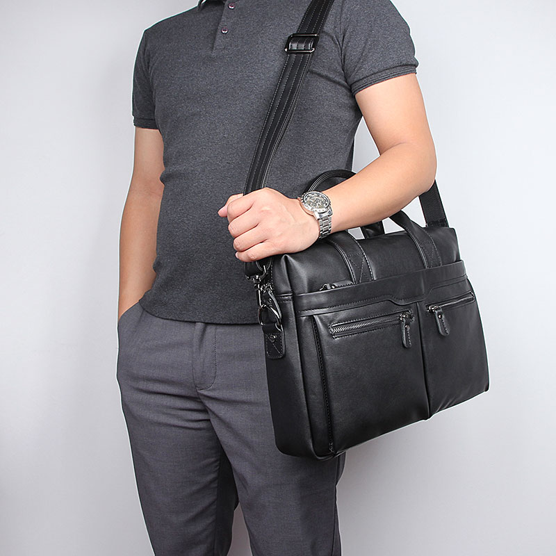 JMD винтажный кожаный мужской черный портфель сумка для ноутбука сумка мессенджер горячая Распродажа 7122A 1 - 3