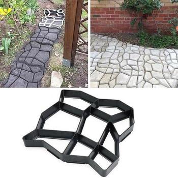 New DIY Plastic Path Maker Mold Paving Cement Brick Molds Stone Floor Road Concrete Molds Pavement For Garden Home Patio Maker