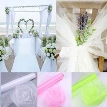 Фотообои из органзы с кристаллами 48 см x 5 м, свадебное украшение 66