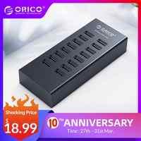 ORICO USB HUB 16 Ports Industrielle USB2.0 Hubs USB Duplizierer mit 12V2A Power Adapter für Apple Macbook Air Laptop PC tablet