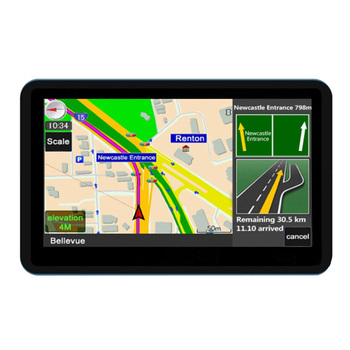 Rechargeable Battery Universal FM GPS Navigation Driver Alerts Maps USB 2.0 Touch Screen With 8G Memory Direct Access Car 7 Inch