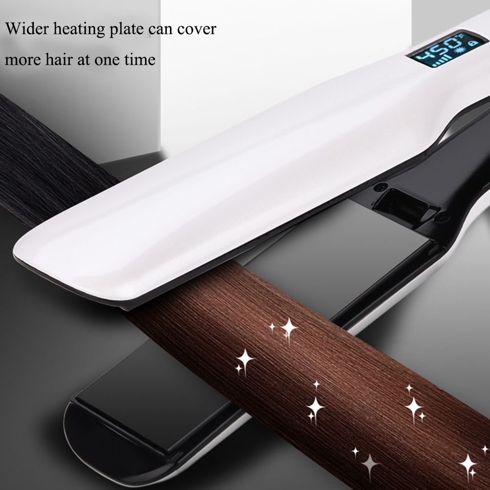 Wide Plate Hair Straightener Iron Ceramic PTC Hair Straightening 3D Flat Iron  Fast Heating Flat Iron with Wide Heating Plate