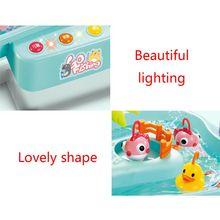Water-Toys Game Fishing Electric-Music-Lighting Kids Children's Platform Gifts R9JD