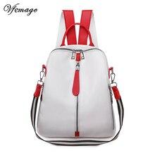 Vfemage High Quality Bag for Women Backpacks Female Small Leather Backpack Girls Schoolbag Mutifunction Ladies Shoulder Bag 2019