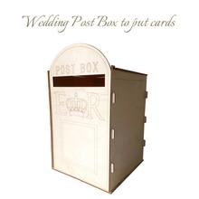 Деревенский полый подарок держатель для карт DIY деревянная коробка для сбора денег на свадьбе с замком для приема свадьбы юбилея дня рождения Декор