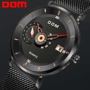Dom ceas militar ceas cuarț oțel rriginal-design impermeabil bărbați de brand bărbați sport