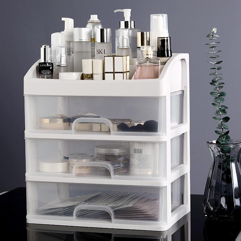 Multi-layer Large Capacity Makeup Organizer Women Skin Care Dressing Table Beauty Case Jewelry Nail Polish  Cosmetic Storage Box