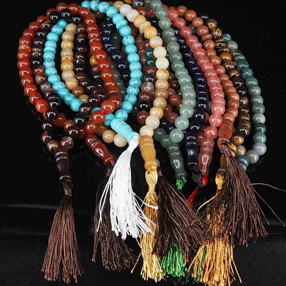 כמות גבוהה טבעי אבן קסם נשים גברים צמיד יוגה צ 'אקרה משלוח טופס druzy אבן קמע תכשיטי שרשרת משלוח חינם