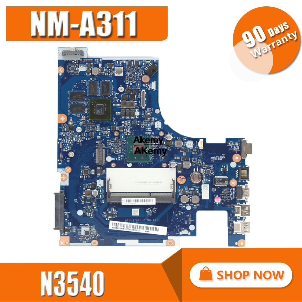 G50-30 Motherboard FRU:5B20G91616 For Lenovo G50-30 Laptop Motherboard ACLU9/ACLU0 NM-A311 SR1YW N3540 DDR3 820M 1GB