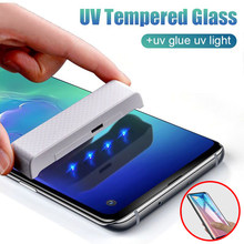20D Curved Full Cover UV Tempered Glass For Samsung Galaxy S8 S9 Plus S10 Lite Note 8 9 Protective Glass Screen Protector Film(China)