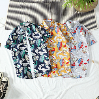 2020 Men Shirts Short Sleeve Printed Pocket Colorful Casual Blouse Hawaiian shirt Male Tops Summer Geometric Plus Size Shirts new arrival colorful printed shirt men brand good quality short sleeve casual dress shirts plus size