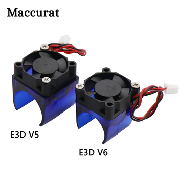 E3D V5 V6 12V 24V Cooling Fan With Fan Bracket Duct Housing Guard J-head Hotend for 3D printer Extruder Bracket Module 3d printer parts cyclops 2 in 1 out 2 colors hotend 0 4 1 75mm 12v 24v fan bowden with titan bulldog extruder multi color nozzle