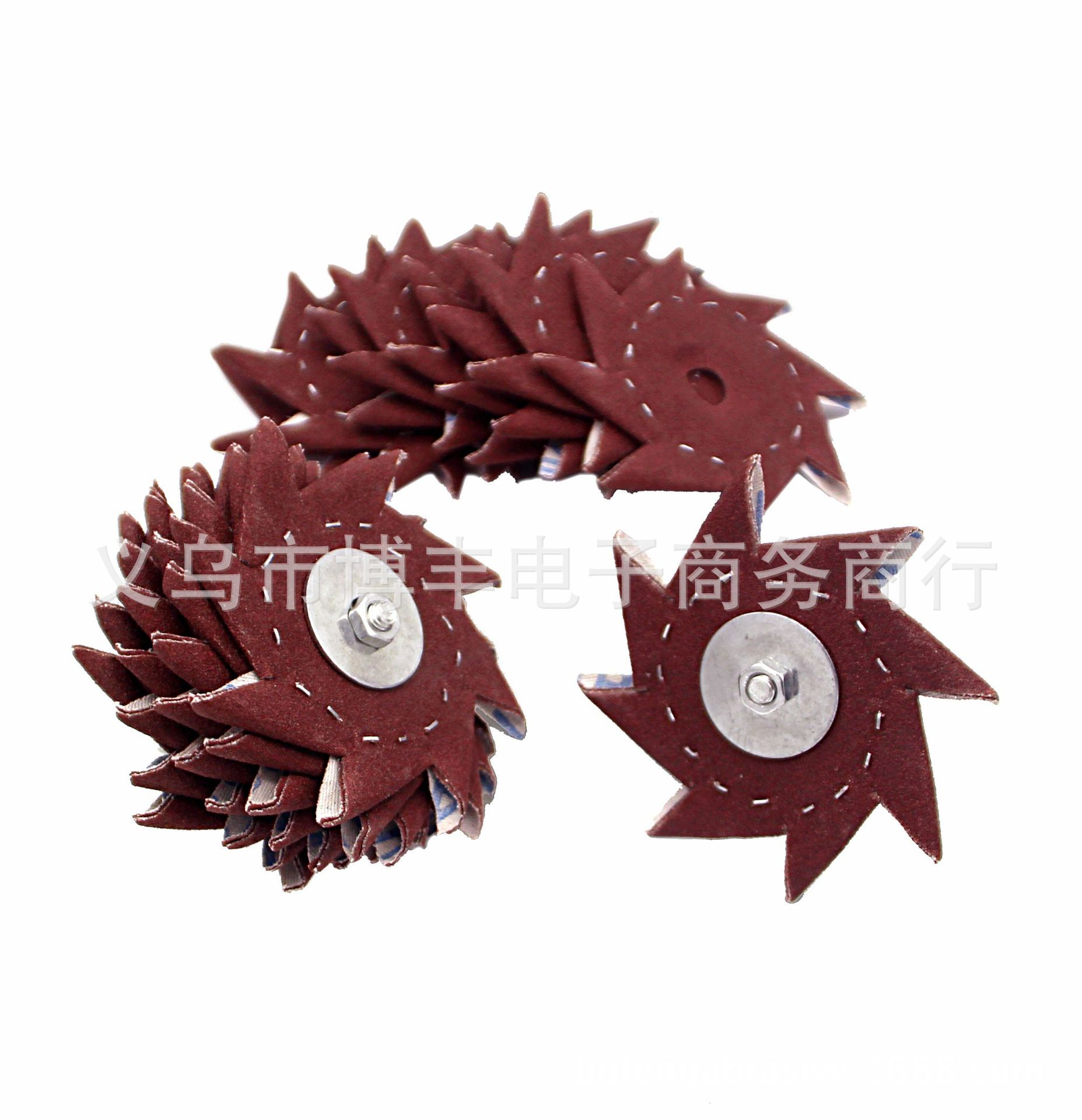 Octagonal Sandpaper Furniture Root Carving Wood Sculpture Slot Polishing Octagonal Abrasive Band Eight Sandpaper Velcro Woodwork