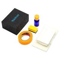 Leepee diy para lâmpada de cabeça do carro lente uv proteção anti-risco farol de polimento restorstion kit restaura clareza
