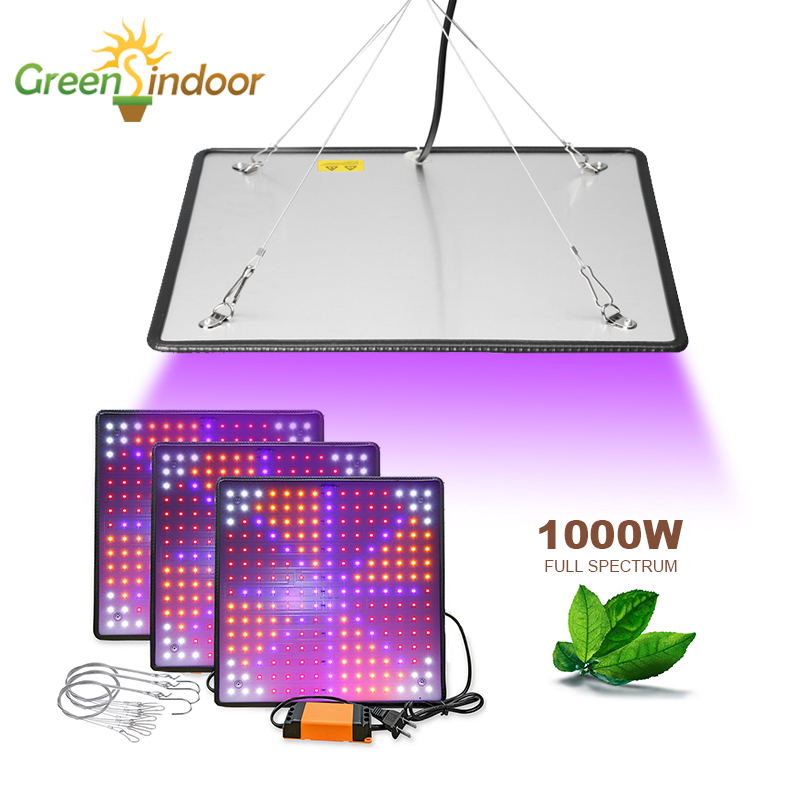 3pcs 1000W LED Grow Light Full Spectrum Phyto Lamp For Plant Grow Tent Lights For Flowers Indoor Herbs Medical Plants Fitolamp