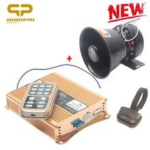 Chifre de alarme automático sem fio 400 w alto falante sirene polícia 12 v veículo alarme aviso som megafone sirene tom mic sistema emergência