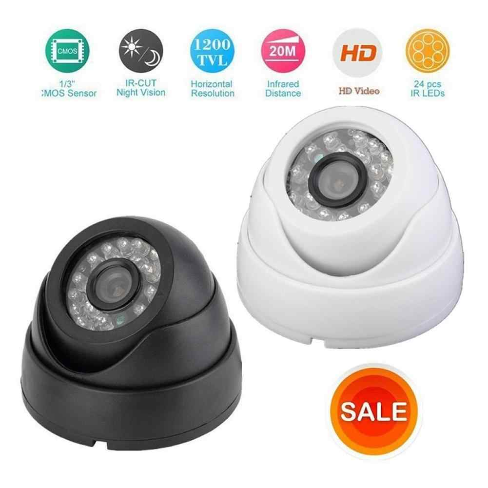1200TVL HD Dome Camera Monitoring HD 1200TVL CMOS 24IR 3.6MM Dome Infrared CCTV Security Camera for Indoor Outdoor