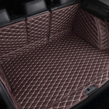 Custom Car trunk mats for skoda kodiaq Yeti Spaceback Rapid Fabia Superb Octavia all models auto accessories car mats