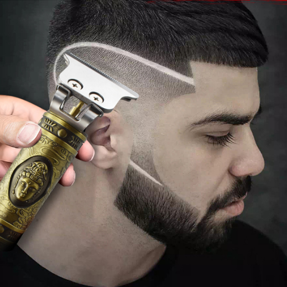 2020 Hair Trimmer 0 Mm T-blade Rechargeable Electric Hair Clipper Barbershop Cordless 0 Mm T-blade Small Baldheaded Outliner Men