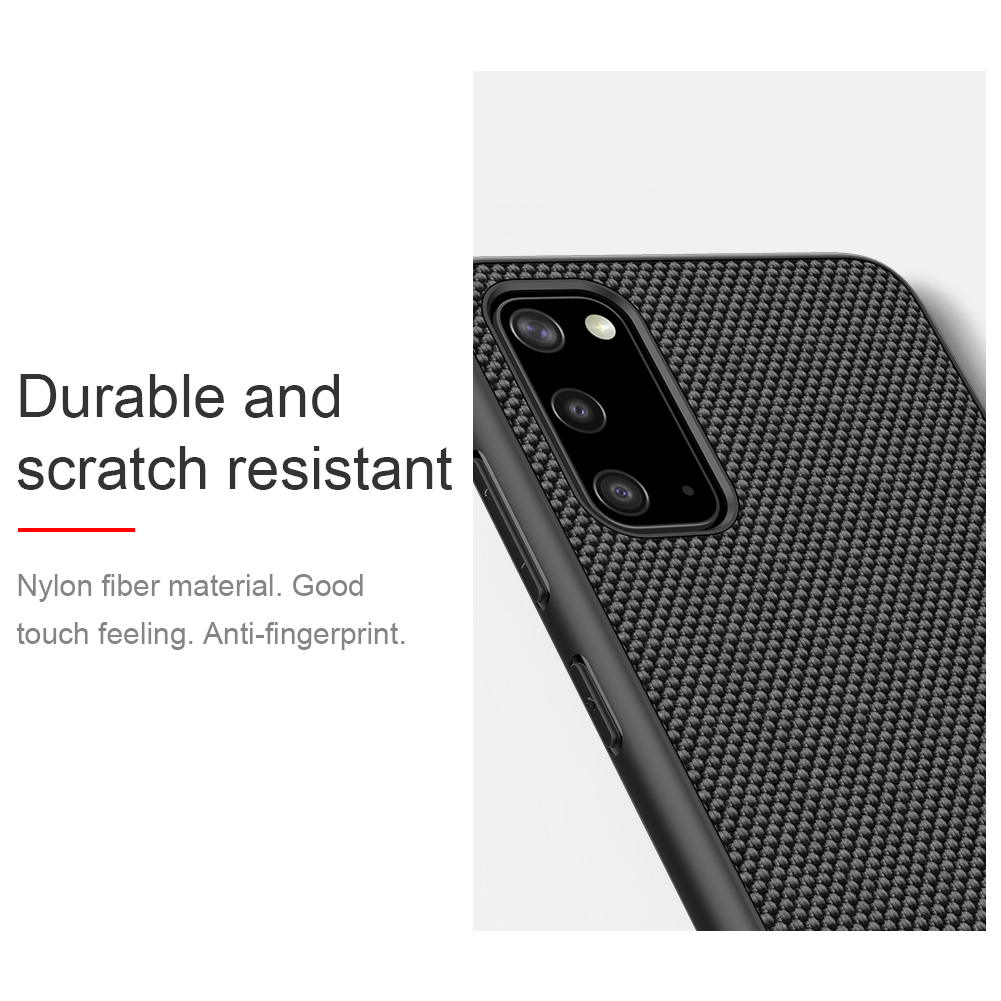 Case for Samsung Galaxy S20 Plus NILLKIN Textured Nylon Fiber Hard PC Panel+TPU Frame Back Cover Case for Samsung S20 Ultra S20+