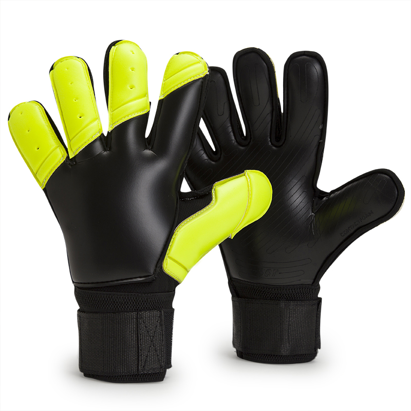 Full Latex Goalkeeper Gloves With Removable Fingersave Protection Emulsion Soccer Football Goalie Gloves Adults Size 8 9 10