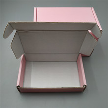 Boxes Cardboard-Box Mailer Birthday-Gift Pink 10pcs Square 16x8x3cm Thicken 3-Layer