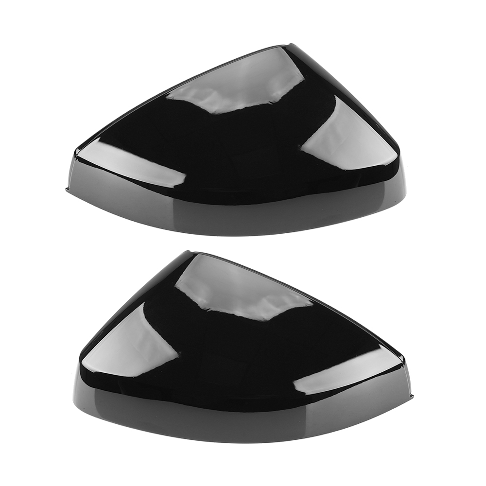 2pcs Glossy Black Side Mirror Cap Covers for <font><b>Audi</b></font> <font><b>A3</b></font> S3 8V RS3 Glossy Pearl Black 2013 2014 2015 <font><b>2016</b></font> 2018 2017 2019 image