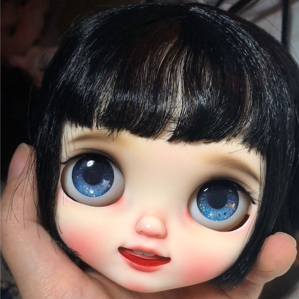 Blyth Doll Face Plate For Diy Your Blyth Makeup Including Back Plate Customization Doll Nude Blyth White Skin Smile
