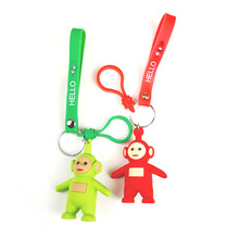 Mini Cartoon Teletubbies Key chain Girl Bag children Christmas Gift Keychains Action Figure pop Fashion Creative Toy key Ring