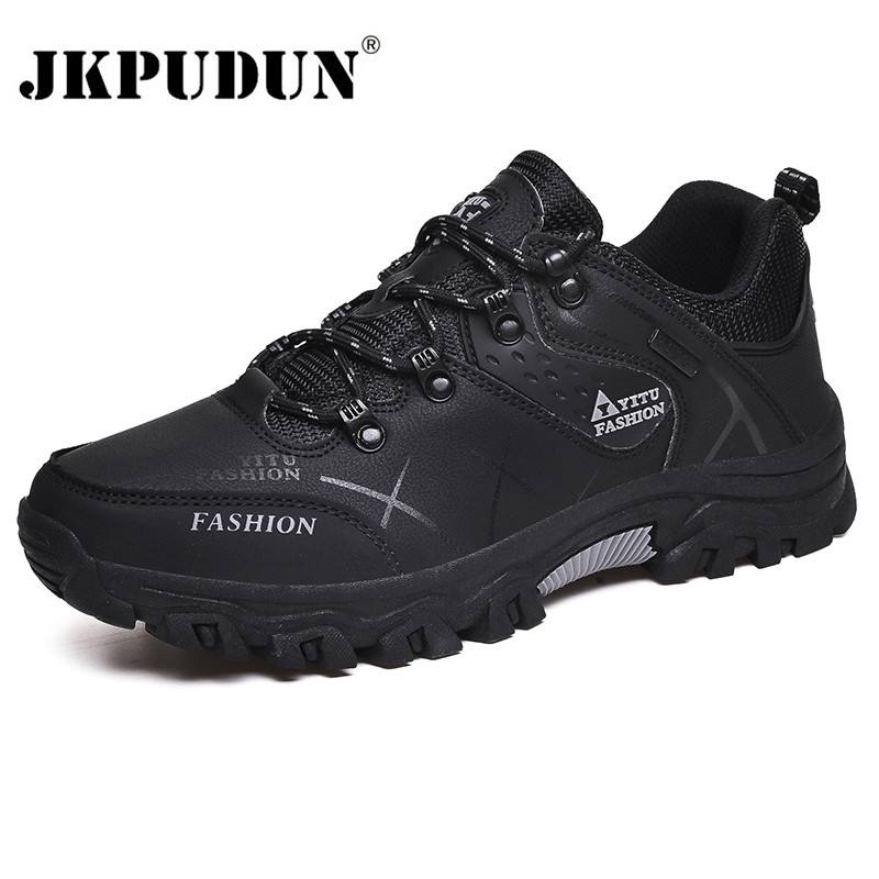 Outdoor Men Shoes Comfortable Casual Shoes Men Fashion Breathable Hiking Sneakers Men Trainers Zapatillas Zapatos Hombre JKPUDUN