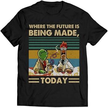 Gdzie przyszłość jest dziś robiona koszula Vintage miłośników Muppet Show Fan tanie i dobre opinie SHORT CN (pochodzenie) Z okrągłym kołnierzykiem Short sleeve white t-shirt tshirts Black White tee shirt t shirt tops