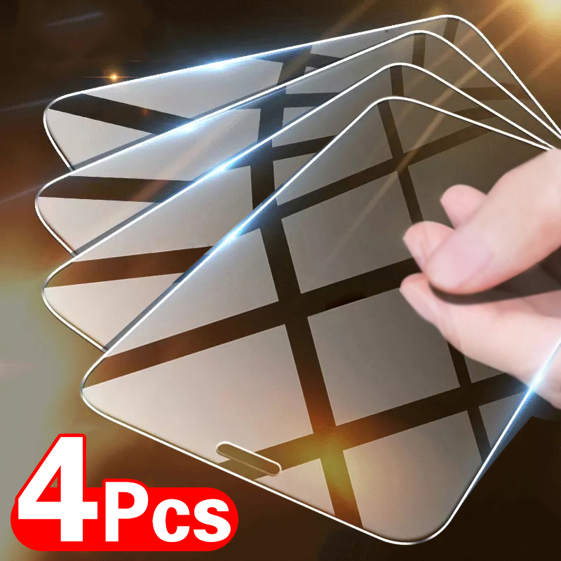 4PCS Tempered Glass for iPhone 11 12 Pro XR X XS Max Screen Protector on for iPhone 12 Pro Max Mini 7 8 6 6S Plus 5 5S SE Glass