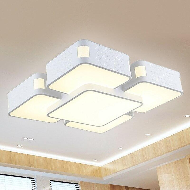 Glorious Rectangular Living Room Lights Modern Minimalist LED Ceiling Lamp Restaurant Bedroom Ceiling Lamp Sky City