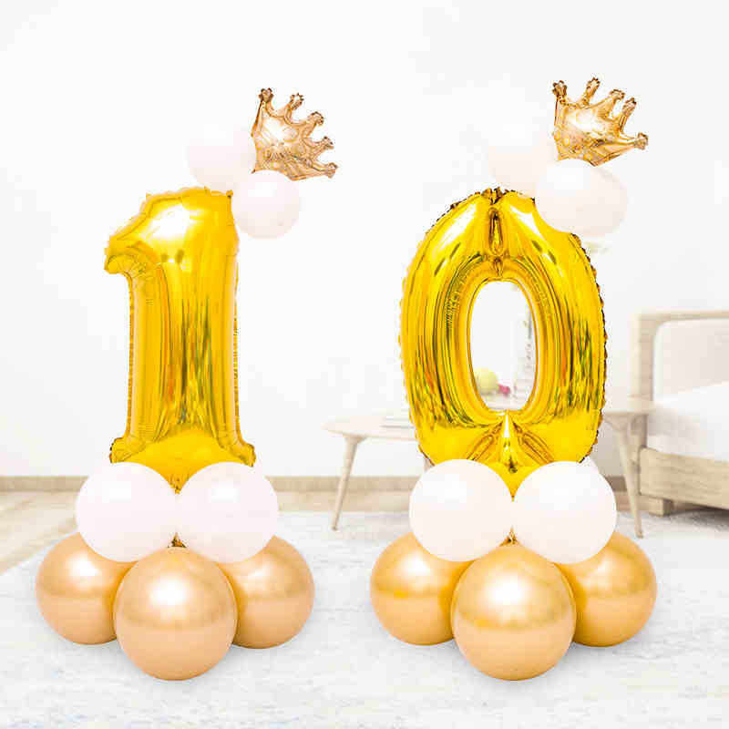 Lateks Balon Berdiri 1st 30 Ulang Tahun Aurélie Globos Pernikahan Ballon Arch Selamat Tahun Baru Baloon Dekorasi Pesta Ulang Tahun Anak-anak