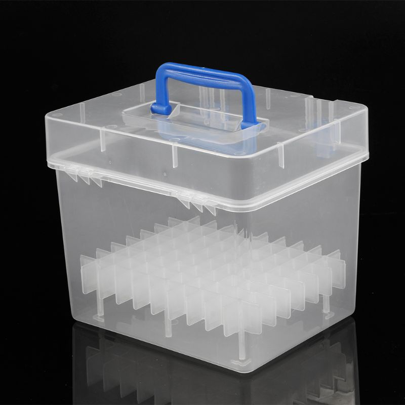 Transparent Marker Pens Storage Box Container Art Craft Tray Office Desk Organizor Home School Students Study Supply E65A