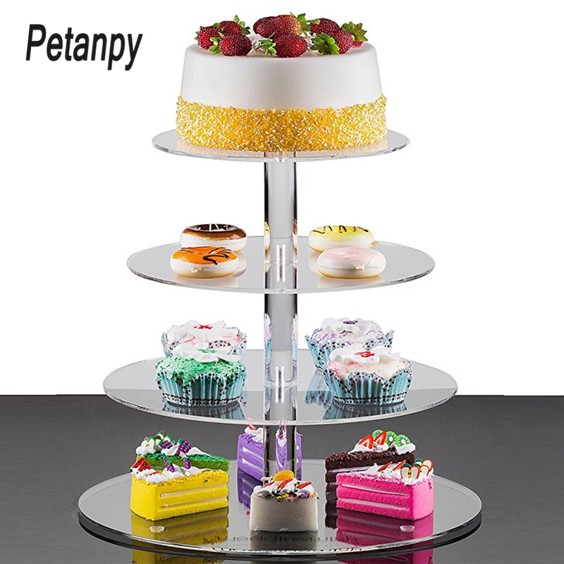 "15/"" ROUND MIRROR ACRYLIC CAKE BOARD STAND WEDDING"
