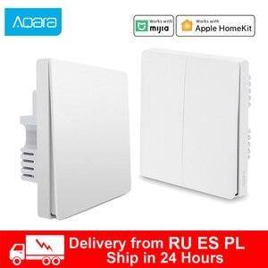 Aqara wall switch Wireless Switch key ZigBee Smart home Zero Line Fire Wire Light Switch Remote Control Work For Mihome APP(China)