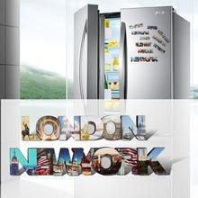 Double wood 3d magnetic refrigerator magnet, Berlin,Newyork,Paris,London tourist souvenirs, fridge magnets